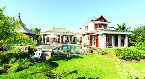 Außenansicht von Heritage Villas auf Mauritius (Foto: beigestellt)