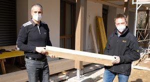 Umbauarbeiten: Geschäftsführer Gernot Deutsch und Prokurist Erich Weinzettl von der Heiltherme Bad Waltersdorf (Foto: Heiltherme, beigestellt)