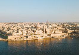 Blick auf Valletta von Sliema