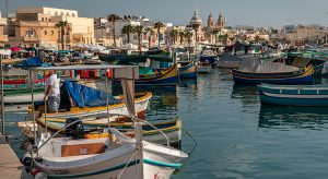 Marsaxlokk Bay im Süden von Malta